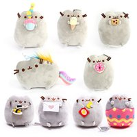 Wholesale fabric for plush toys - 15cm Pusheen Cat Plush Toys Cartoon Cute Stuffed Animals Toy For Children Christmas Gift Doll High Quality 9nd B