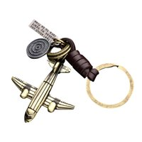 Wholesale aircraft plane keychain - 2018 airplane aeroplane model keychain key ring plane aircraft key chain key holder creative chaveiro portachiavi llaveros hombr