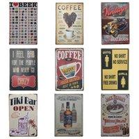 ingrosso dipinti d'amore-Targa in metallo vintage Targa in metallo I Love Beer Tiki Bar Poster in lamiera aperta 20 * 30cm Metal Iron Paintings Top Quality ZB