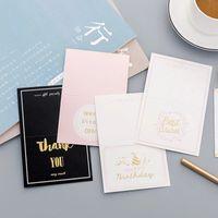en iyi mesajlar toptan satış-1 Adet Mutlu Doğum Günü Teşekkür Ederim En Iyi Dileklerimle Retro Tebrik Kartı Kartpostal Doğum Günü Mektup Zarf Hediye Kartı Mesajı Kart
