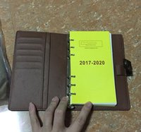 Wholesale hot book sale - 2018 Famous Brand Agenda Luxury Brand Note BOOK Genuine PU Agenda Real Leather Free Shipping Note Books Credit Card Set Hot Sale Style