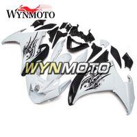 ingrosso yamaha fz6r abs-Carene complete in plastica ABS per Yamaha FZ6R 2009 2010 09 10 Kit per motociclette corpo bianco nero puro