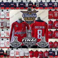 Wholesale youth hockey cup - Men Women Youth #8 Ovechkin 77 Oshie 92 Kuznetsov Holtby 19 Backstrom 43 Wilson 2018 Stanley Cup Champions Caps Red Navy White Jerseys