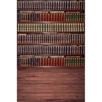 Wholesale Vintage Wooden Floor Bookshelf Photography Backdrops Digital Printed Books Retro Style Baby Newborn Photo Props Studio Backgrounds