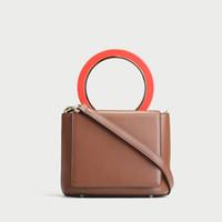 пакет компонентов оптовых-женщины Pure color bean сумка небольшая сумка женская сумка мини кольцо кольцо маленькая кожаная сумка простой дикий Crossbody сумка