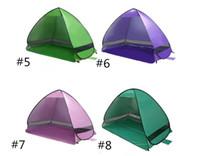 instant zelt im freien großhandel-Top-Qualität im Freien schnelle automatische Eröffnung Zelte Instant Portable Strand Zelt Shelter Wandern Camping Familie Zelte für 2-3 Personen heißer Verkauf