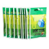 ingrosso luce di asta da pesca di notte-notte 50Pcs Pesca fluorescente Lightstick Night Light Float Rod Glow in Dark Stick Pesca Pesca Accessori 25 millimetri 37 millimetri