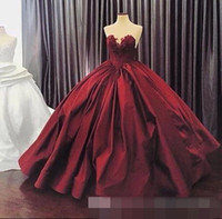 Wholesale long strapless dresses china for sale - Group buy China Clean and Modern Ball Gown Quinceanera Dresses Sweetheart Lace Up Floor Length Club Dress Satin Appliques Long Prom Gowns