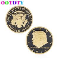 Wholesale Commemorative Coin Gift - Wholesale-Donald Trump Design Commemorative Coin Zinc Alloy Commemorative Coin Collection No-currency Coins Gift Black Friday