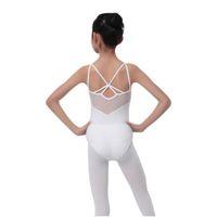ingrosso ragazzi della ragazza del bodysuit-Abiti per bambini Solid Large Size Dress Abiti da festa Kids Girl Dance Body Body Ballet Dress Costume Top S3