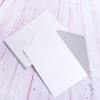 elfenbein einladungspapier großhandel-A7 Elfenbein Pearl Papierumschläge mit wasserbasierten Kleber, Pefect für 5 x 7 Hochzeitseinladungen, Grußkarten, Fotos, Baby-Dusche verwenden