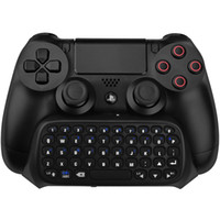 Wholesale playstation controllers online - Hot Sale Wireless Bluetooth Chatpad Message Keyboard For Sony For PlayStation For PS4 Controller Freeshipping