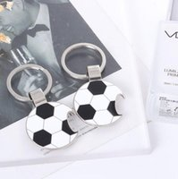 Wholesale soccer bottle for sale - Group buy New Football Bottle Opener Key Ring Keychain Metal Aolly Key Chain Soccer Ball Football Key Chains LX3480