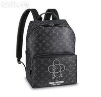 Wholesale diamond shaped button - M43675 MEN MASCOT FOREVER CANVAS BACKPACK PURSE BAG Backpack Duffle Bags Lifestyle Luggage