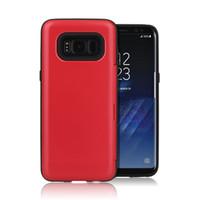 Wholesale Quick Slides - For Samsung S8 Plus J2 Prime J3 Emerge J503 J727 A720 Card Holder Slot Wallet Easy Slide Quick Tab Kickstand Smooth Phone Case