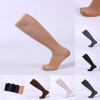 Wholesale leg slimming socks - Men Women Long Compression Knee Socks Blood Circulation Stockings Breathable Fat Burn Leg Slimming Socks 6 Colors Free DHL G462Q