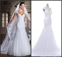 Wholesale wedding dress real pictures back mermaid for sale - Group buy 2020 New The real picture new white arrivee robe DE noiva sexy strapless mermaid applique beads back bind the bride wedding dress