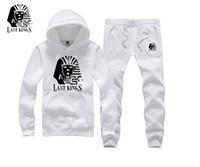 ingrosso marche di marca di hoodies uomo-Gli uomini di marca Nome Abbigliamento Autunno Inverno Uomo ultimi re Hiphop Felpa Street Fashion Tyga ultimi re cappuccio sudorazione ponticello