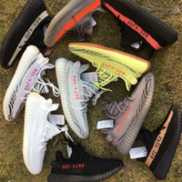 Wholesale Red Lawn - Semi Frozen Yellow B37572 Gum Sole 350 v2 Beluga 2.0 B37571 Blue Tint SPLY 350 Zebra Black Red Running Shoes