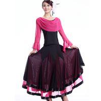 vestidos de baile de alto rendimiento al por mayor-Luxury Women Sexy Ballroom Dance Dresses Lady Waltz Spanish Dance Dress for Stage Performance Disfraces de Halloween 89