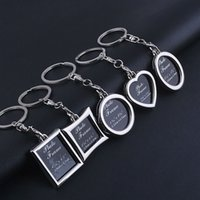 Wholesale insert photo key chains for sale - Group buy Pocket Insert Photo Picture Frame Keychain Keyring Keyfob Pendant Key Chain Ring Creative Key Holder Gift Shape D519L