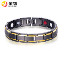 Wholesale Black Magnet Bracelet - MEN's bracelet Black Copper MAGNET Sports Bracelets Elegant ADJUSTABLE wristband with Anti-fatigue magnet link chain bracelets Wholesale