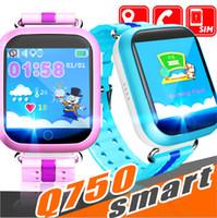 kinder wifi großhandel-Q750 scherzt intelligente Uhr 1.54inch Touch Screen GPS Wifi LBS Monitor PAS-Anruf-Safe Anti-Verlorene Position Gerät-Verfolger für Kindkind schlechtes intelligentes wa