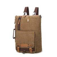 Wholesale women weekender bag resale online - Outdoor Camping Hiking Canvas Backpack Rucksack Women Men Casual Schoolbag Satchel Business Bag Weekender Shoulder Bag Totes Bag