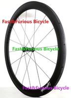 ingrosso mozzi fissi-Presa !! Leggero Ruote in carbonio 50mm Copertoncino tubolare Road Bike Carbon Wheel 700C 23mm larghezza Road Bike