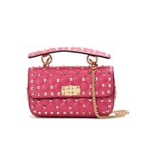 Wholesale christmas fund - 2018 New Pattern Star With Fund Genuine Leather Woman Package Sheepskin Rivet Hand Take Small Fang Bao Ma'am Single Shoulder Bags