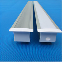 Wholesale Aluminium Profile - 25pcs of 2m led aluminium profile with milky cover for 20mm pcb 30.5*20