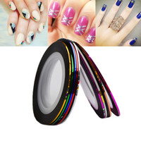 Wholesale laser diy tools for sale - 10Colors Laser Striping Tape Nail Art Line Sticker DIY Decals UV Gel Acrylic Nail Tips Decoration Tool
