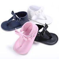 Wholesale baby girl cute sandals online - Baby girls cute sandals flip flops pretty sandals non slip infant soft toddlers kids shoes summer baby sandals