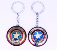 Wholesale Alliance Metal - Free Shipping Movie series Europe and the United States hot Avenger Alliance Captain America Shield Keychain #3303