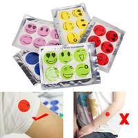 ingrosso autoadesivo anti zanzare-Viso sorridente Emoji Anti Mosquito Sticker Patch Bug repellente Proteggi Gravida Maternità Bambini Baby Outdoor controllo dei parassiti AAA444