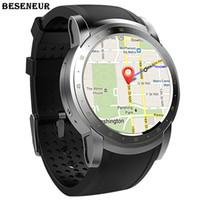 smartwatch wifi toptan satış-Beseneur 3G WIFI GPS Akıllı Izle 2018 Kalp Hızı Monitörü Android IOS Telefon için Sim Kart Smartwatch Giyilebilir Cihazlar