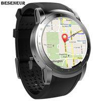 ingrosso orologio astuto del telefono 3g-Beseneur 3G WIFI GPS intelligente Guarda 2018 Heart Rate Monitor Sim Smartwatch per Android Phone dispositivi indossabili