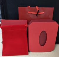 çanta hediye paketi kağıdı toptan satış-2018 Kırmızı Accpet için Özelleştirilmiş Takı ambalaj hediye çantası takı seti için yüksek kaliteli kağıt çanta takı