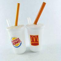 wasser pfeife honig tasse großhandel-McDonalds Wasserpfeife Tupfen-Recycler-Ölplattform mit Downstem Cheech Mini Honig-Schale geben Verschiffen frei