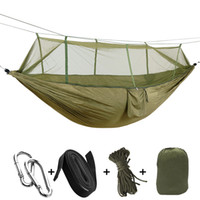 Wholesale ultralight sleeping bags for sale - Group buy Ultralight Outdoor Hunting Mosquito Nets Parachute Hammock Nylon Camping Hammocks for Hiking Travel Backpacking