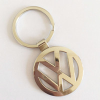Wholesale Keyring Car Logo - Car Logo Key Chain Volkswagen Keyring Keychain For VW Volkswagen touareg tiguan golf passat Key Holder