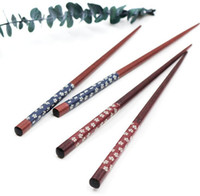 Wholesale bento tools resale online - Portable Japanese Cherry Blossoms Wood Chopsticks tableware Travel utensils Handmade Bento Partner Gift with Exquisite Kitchen Tool