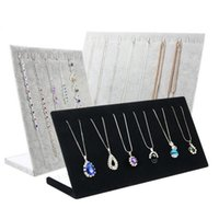 rack оптовых-Necklace Bracelets Stand Display Full Velvet Jewelry Rack Showing Stand Storage Different Colors Show Shelf Wholesale Free Shipping 0729WH