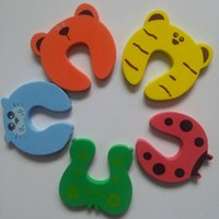 Wholesale animal door stops online - Door Stop Safety Animal Cartoon Door plug for baby Safety Gates security stopper Door clip Lock Pinch Guard Baby Finger Protector