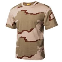engranaje de camuflaje al por mayor-Repire Gear Outdoor Dry Dry T Shirts Hombre Algodón Camuflaje Paintball Caza Camisas Transpirable Militar Táctico Camo T-Shirt