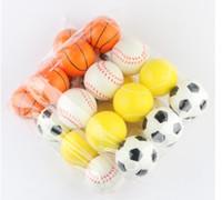juguetes de espuma de estrés al por mayor-HOT 6.3 CM Suave PU Divertido Emoji Cara Bolas de Estrés Apriete Bola de Espuma Novedad Relájese Juguetes Surtido de Expresión