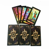 Wholesale international cards - Holographic Tarot Board Game 78 PCS Set Shine Waite Tarot Cards Game Chinese English Edition Tarot Board Game For Family Friends
