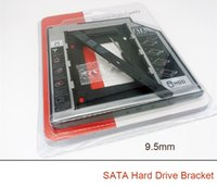 Wholesale 2nd Caddy - Hard Drive Caddy 9.5mm 12.7mm SATA 2nd SSD HDD for DVD-ROM CD Optical Bay PC CD-ROM a hard disk bracket