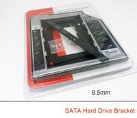 sabit disk desteği toptan satış-Sabit Disk Caddy 9.5mm 12.7mm SATA 2nd SSD HDD DVD-ROM CD Optik Bay PC CD-ROM için bir sabit disk dirseği