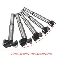 Wholesale wood working set - 5Pcs 15-35mm Forstner Drill Bits Set Hinge Hole Cutters Wood Working Hole Saw Cutters